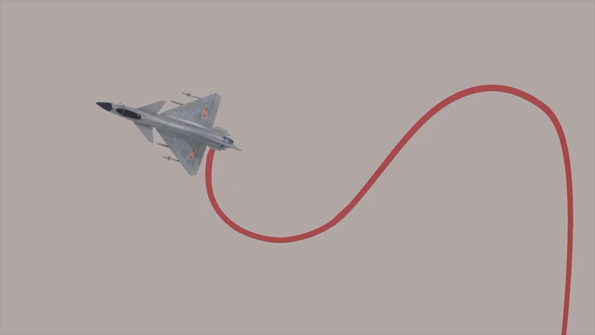 """超飒!中国空军歼-10B战斗机,飞高难动作""""落叶飘""""!"""