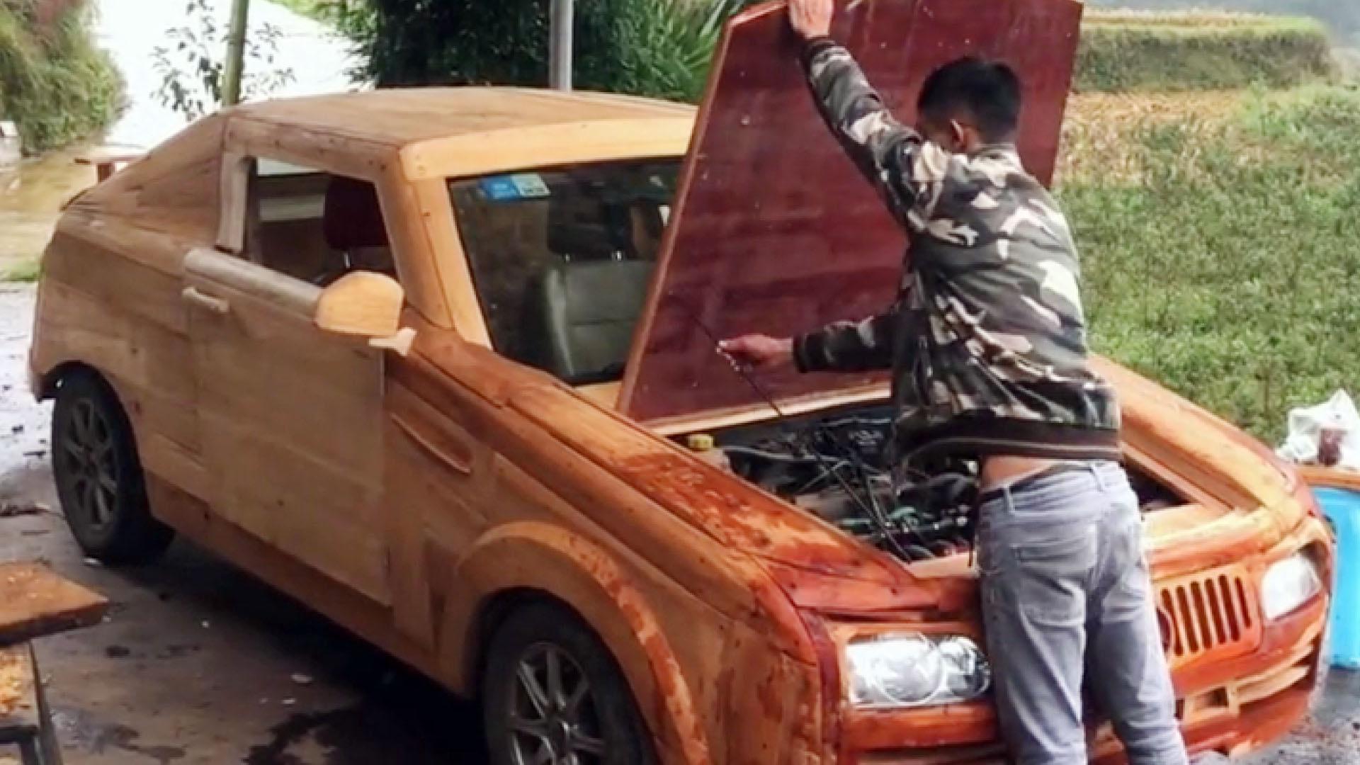 山里木匠打造木质跑车走红,被侃全网最牛定制版