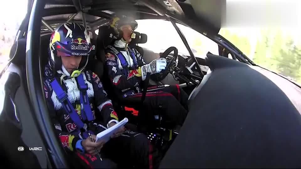 视频:WRC芬兰站,福特嘉年华赛车精彩飞跳