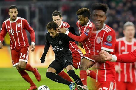 欧冠:巴黎圣日尔曼vs拜仁慕尼黑