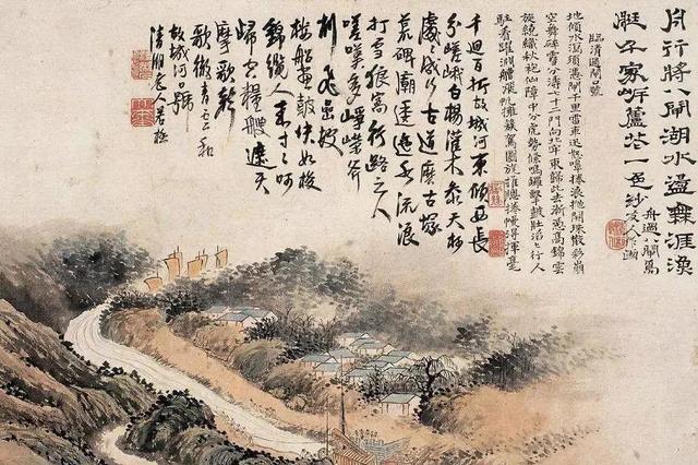 石涛花鸟画,早期受董其昌影响,后期自成面貌令后人景仰