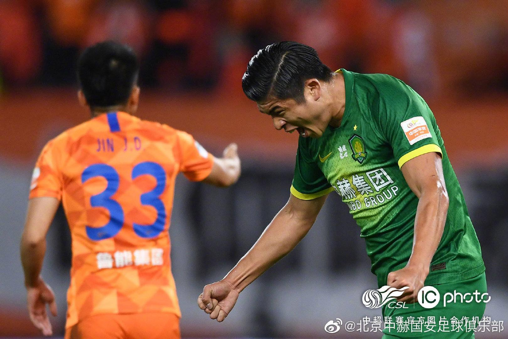 北京中赫国安俱乐部球员张玉宁当选为中超第16轮最佳球员