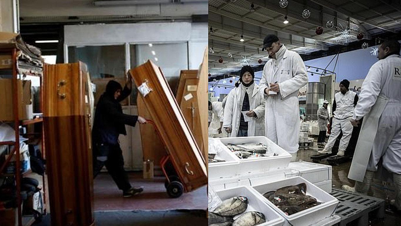 有点危险!法国最大菜市场部分空间改成停尸间 其他区域仍营业