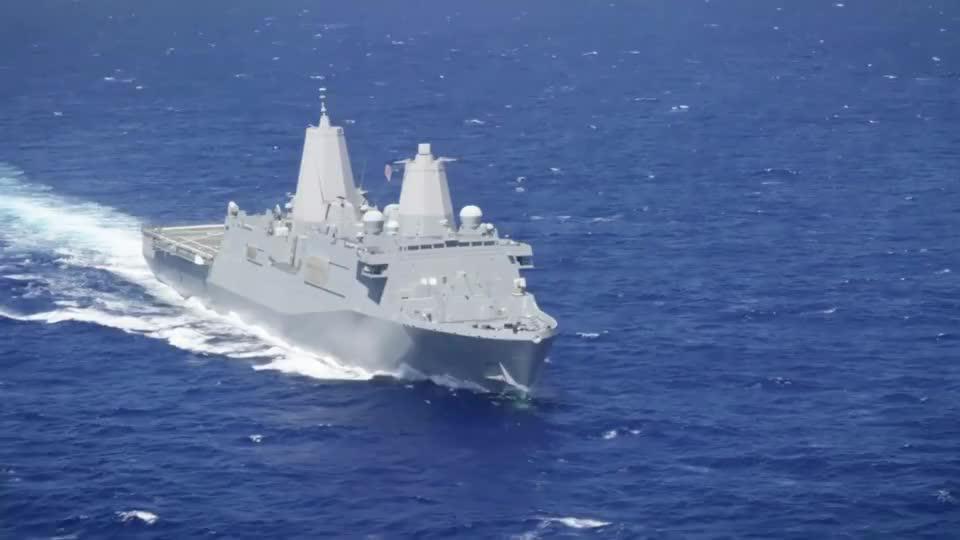 美军超强的 圣安东尼奥级两栖船坞运输舰 抢滩登陆新锐主力之一