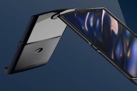 摩托罗拉将发布可折叠5G手机,Moto Razr 5G真机图遭曝光