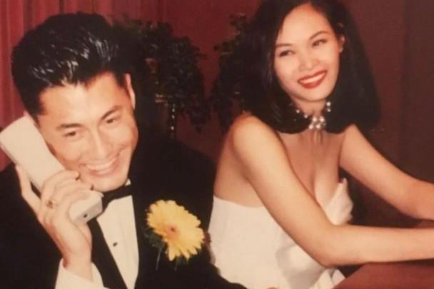 名模配男神!王敏德与马诗慧庆结婚28年,晒陈年婚纱照