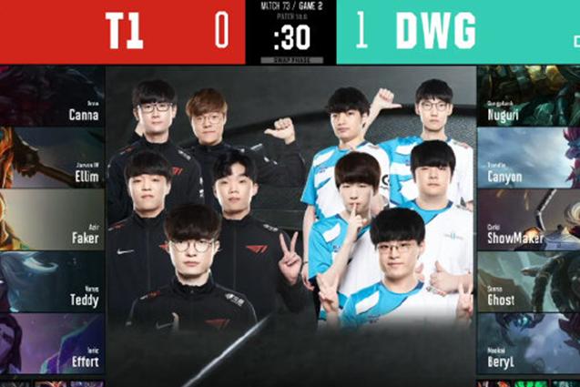 两局玲珑塔!T1惨被DWG吊锤,队员:能赢T1多少有些运气