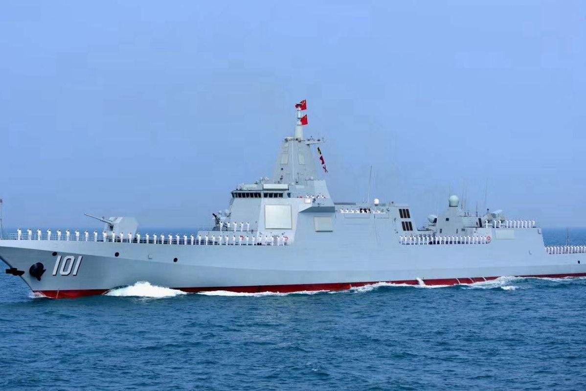 """美媒""""质疑""""我国055大驱:一万多吨也叫驱逐舰?分明是巡洋舰"""