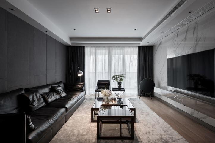 阳昭作品:150㎡极简大平层,中产阶层的家,满眼尽是低调的奢华