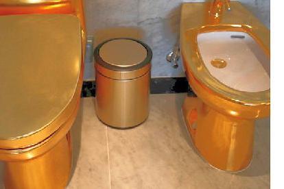 囧哥:扎眼!越南一家五星级酒店由内到外全部镀金 连马桶都不放过