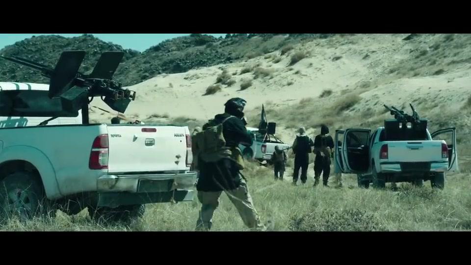 精彩影视片段:自行火炮打武装分子,一锅端