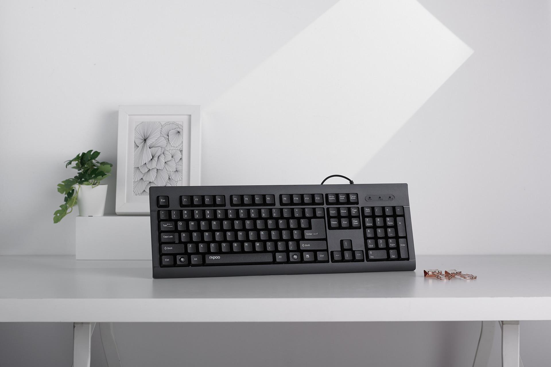 舒适易用:雷柏K150有线键盘上市