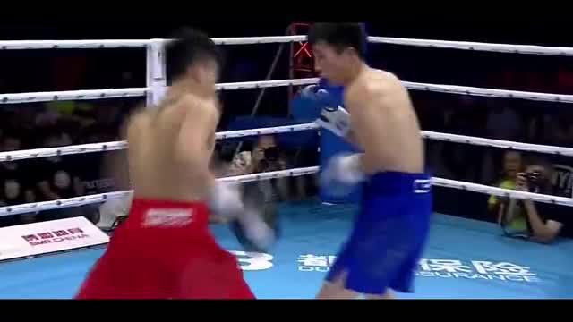 中国拳王赛, 中国吕斌大战黄鑫! 给对手眉弓撞开大口子!