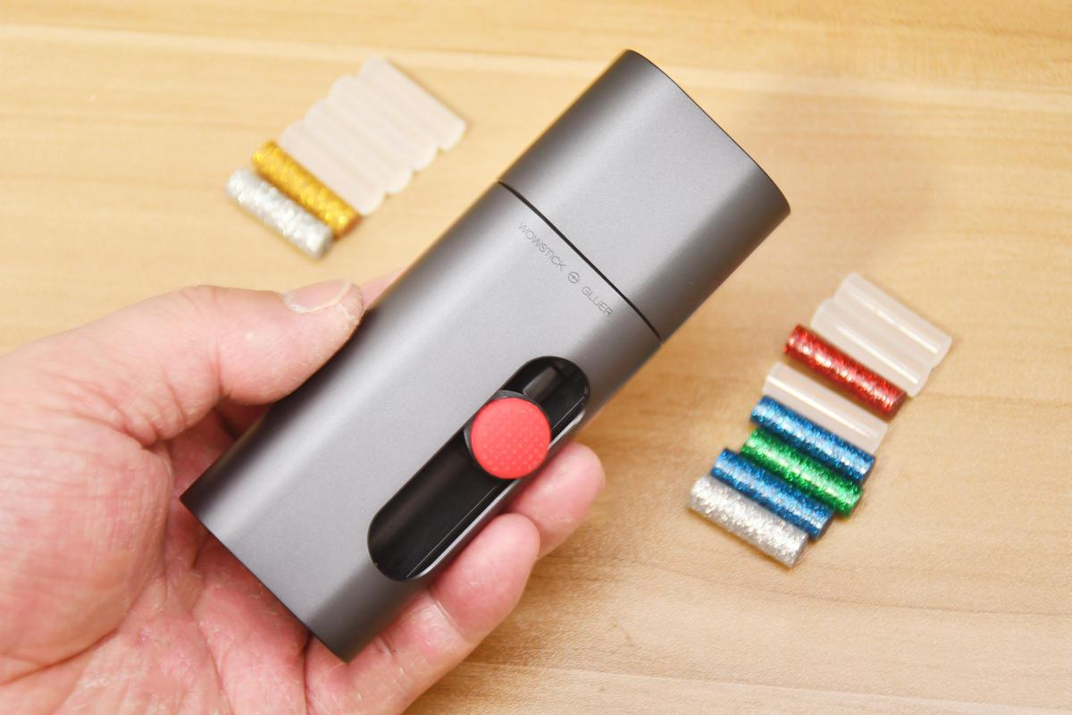 安全方便-WOWSTICK迷你热熔胶笔,带娃做手工DIY神器