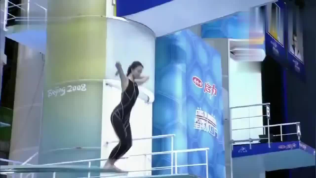 王丽坤落水姿势太美了,人美跳水还厉害,真是好苗子!