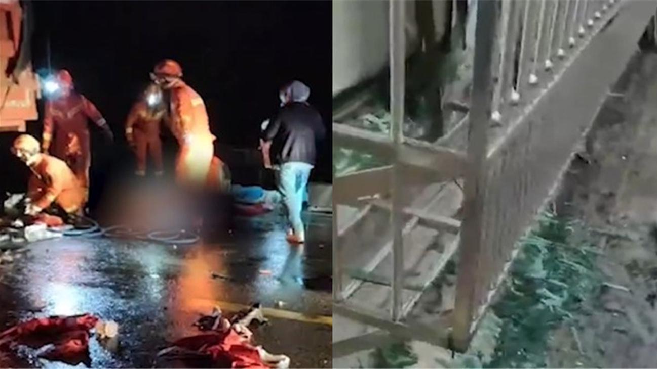 湖南岳阳一油灌车凌晨发生爆炸,疑副驾驶当场死亡,司机仅受伤