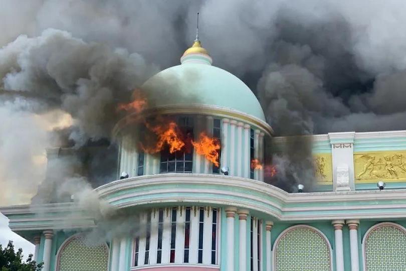 道明寺家没了!流星花园取景地泰国富贵黄金屋突发火灾,损失上亿