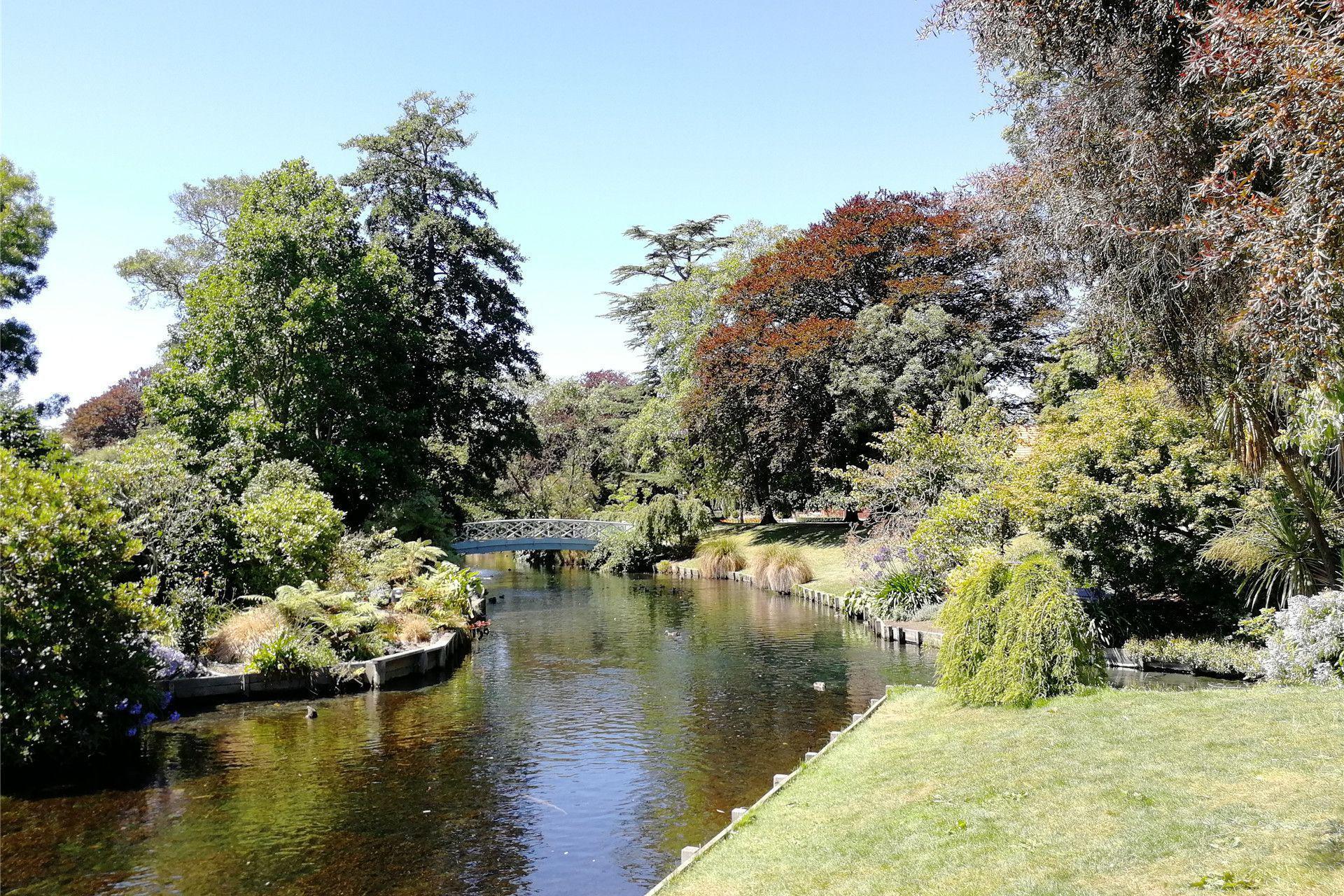 游览 新西兰 基督城 雅芳河