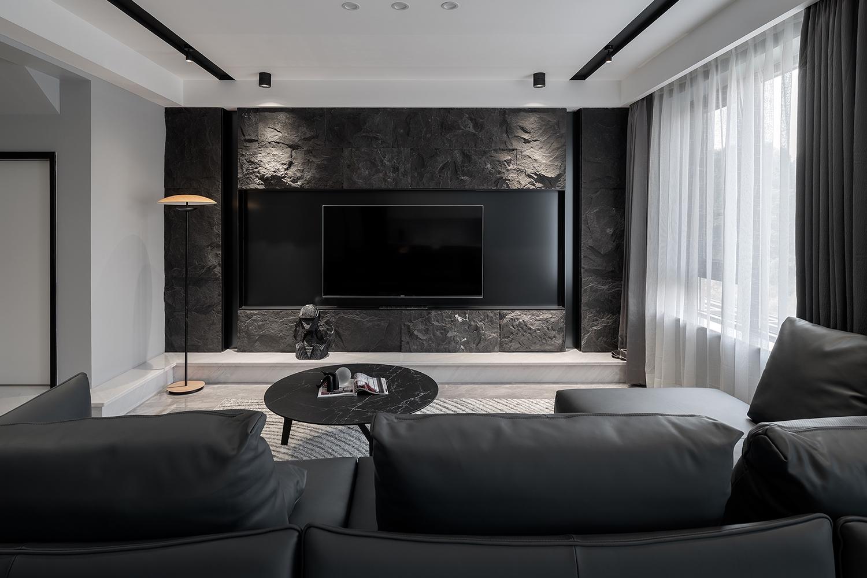 刘希宏作品:163㎡现代极简,哑光灰与木质,搭出层次感与质感