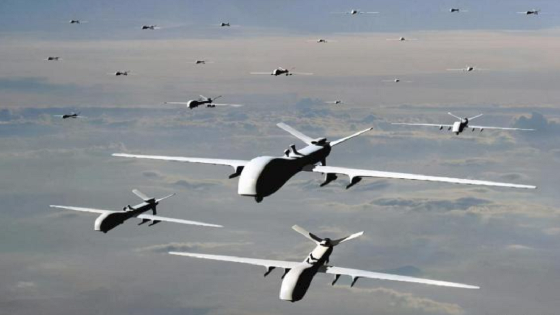 国产杀手锏武器曝光,地面和空中同时发射无人机,美:模仿好莱坞