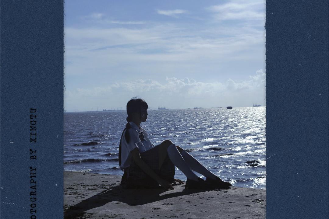 手机调色|夏日海边忧郁蓝温柔色附排版教程