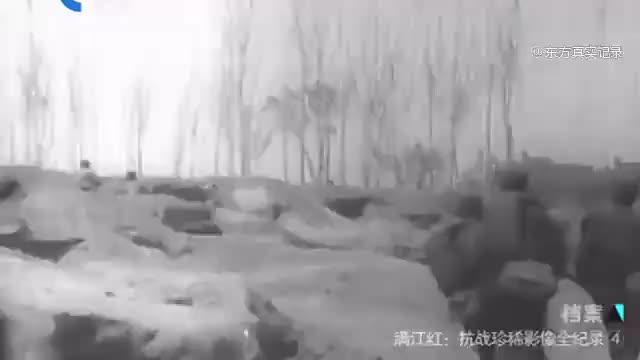 抗战珍稀影像曝光!中国军队与日军血战,李宗仁率军做出大反击