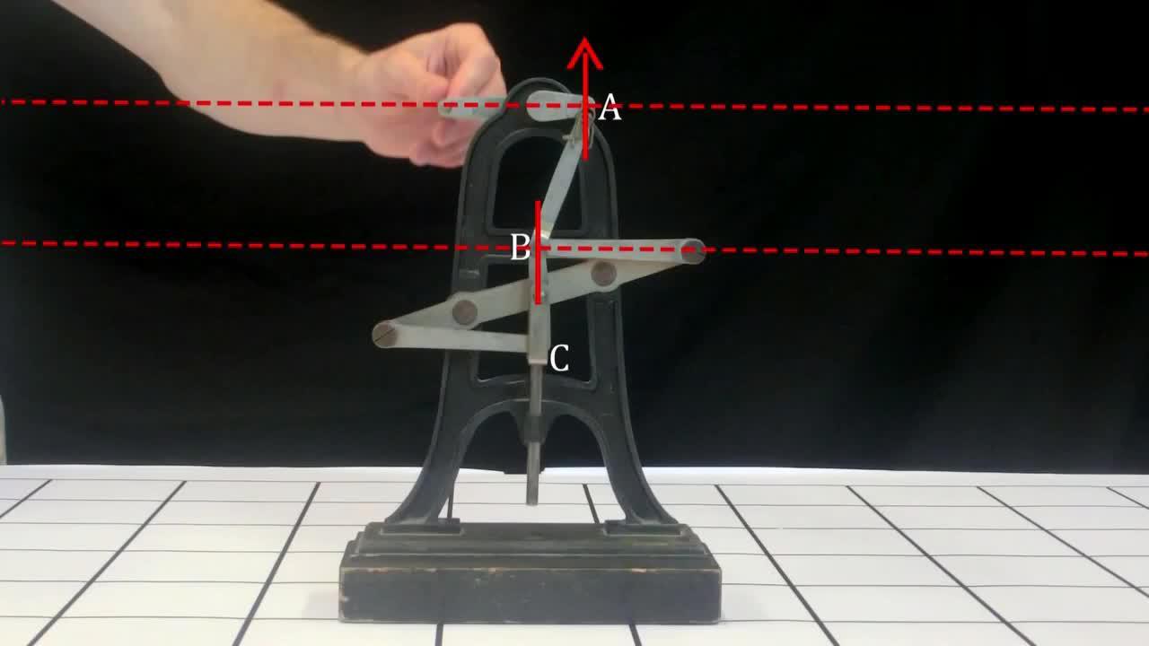机械达人根据动力学,发明了了一个巧妙的机械结构,你看懂了吗?