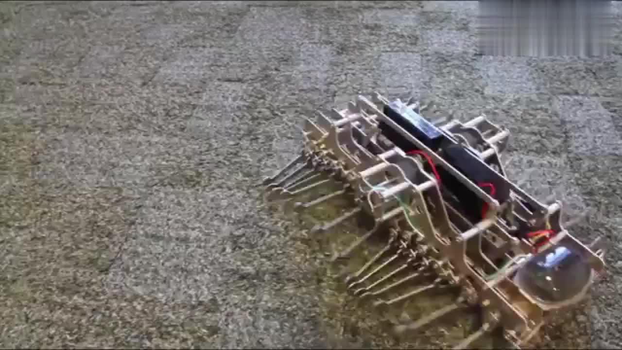 你们知道这机械是干什么的吗?比蜈蚣的腿还多,真有趣!
