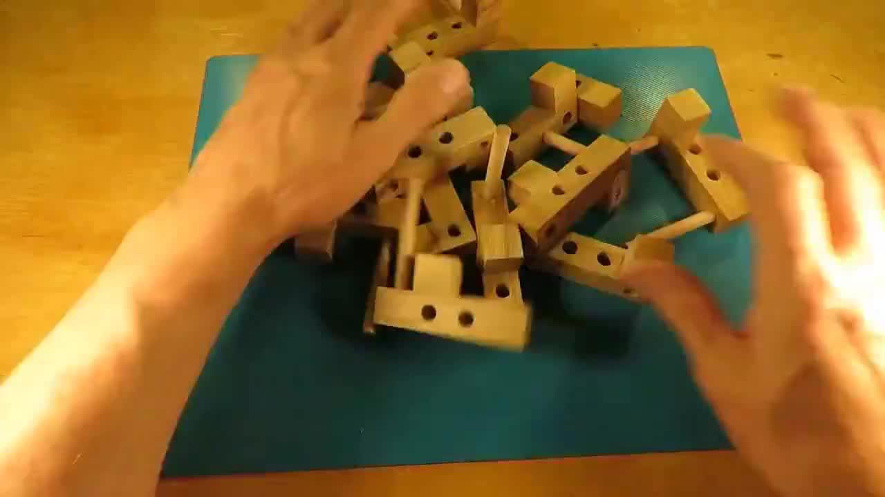 老外制作的一种,类似于鲁班锁的结构模型,你觉得怎么样?