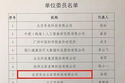 百分点入选全国信标委人工智能分委会首批单位委员