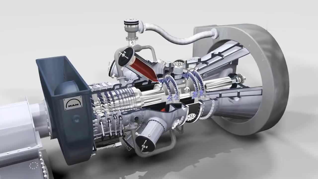 三维动画展示燃气轮机内部结构,这么复杂的机械,怎么发明出来的