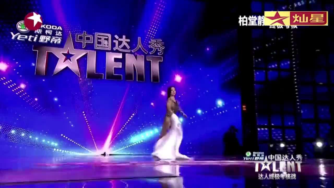 中国达人秀:健美女孩达人秀终结战,表演健美舞,引王伟忠鼓掌