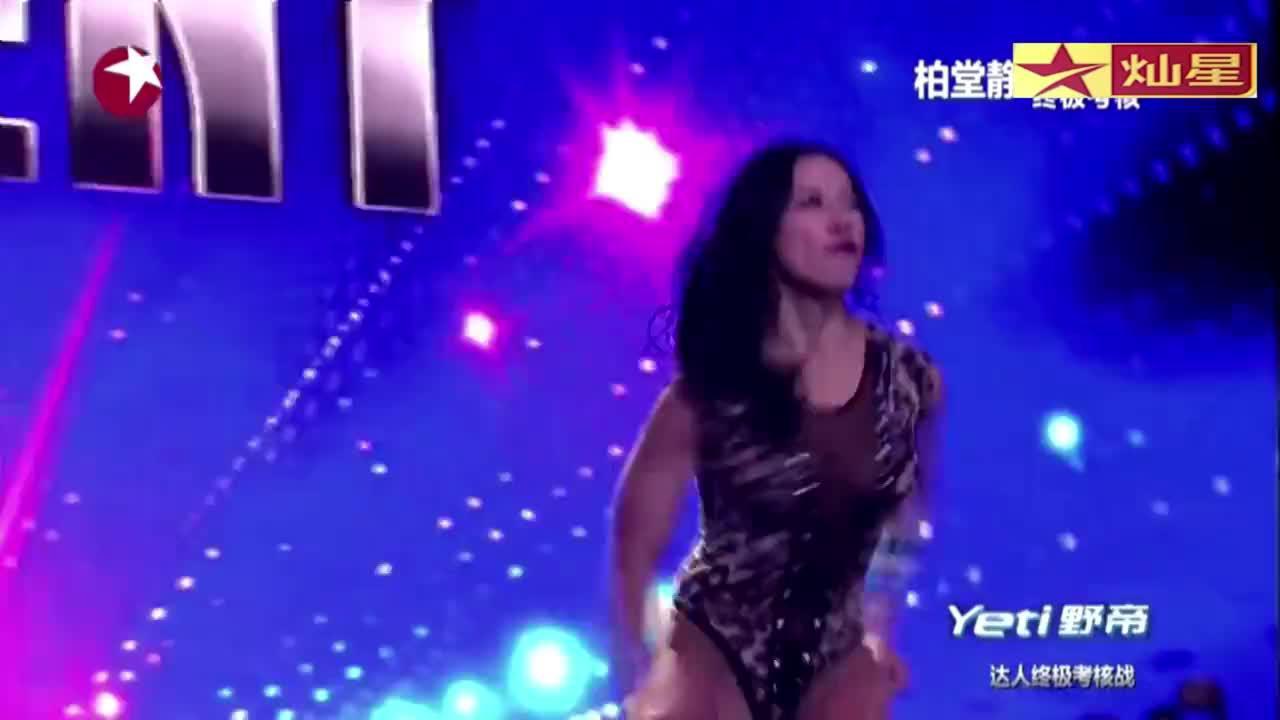 中国达人秀:健美女孩达人秀终结战,表演健美舞,引参赛选手鼓掌