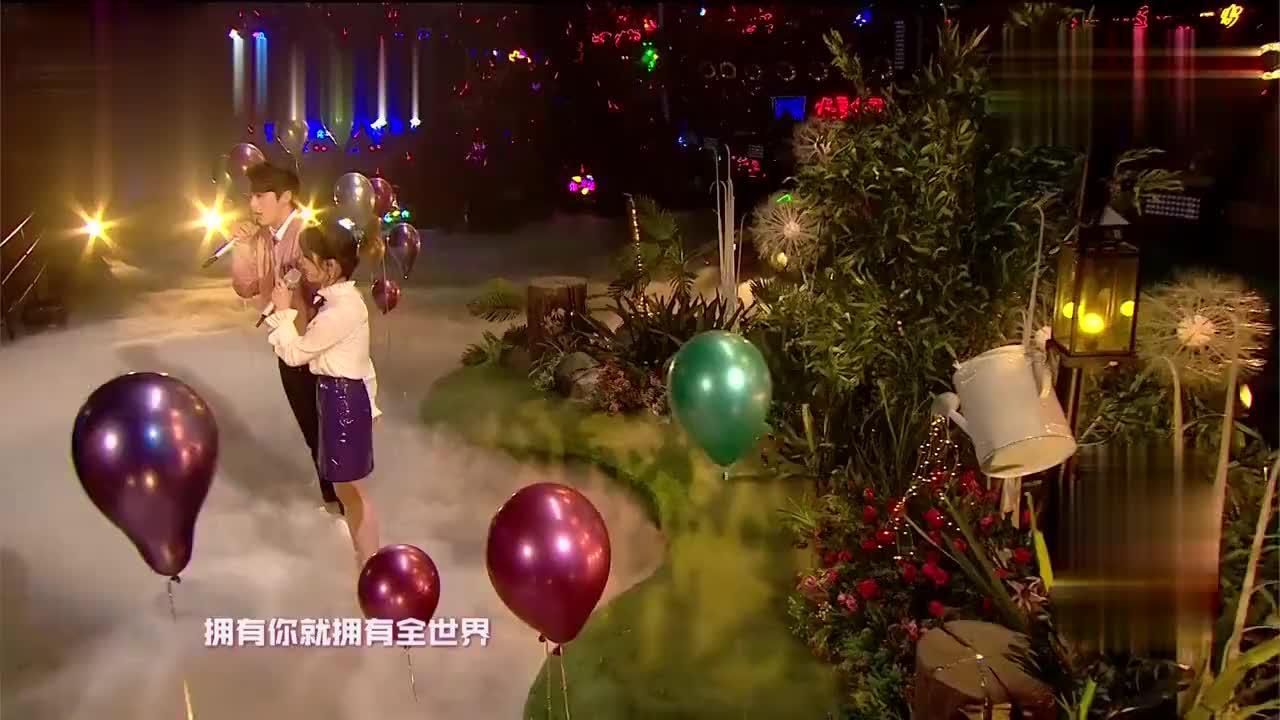 王鹤棣沈月甜蜜对唱《告白气球》