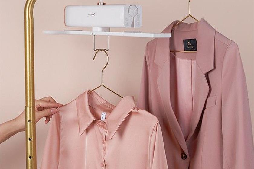烘干杀菌可折叠,可以装进行李箱的干衣架别错过