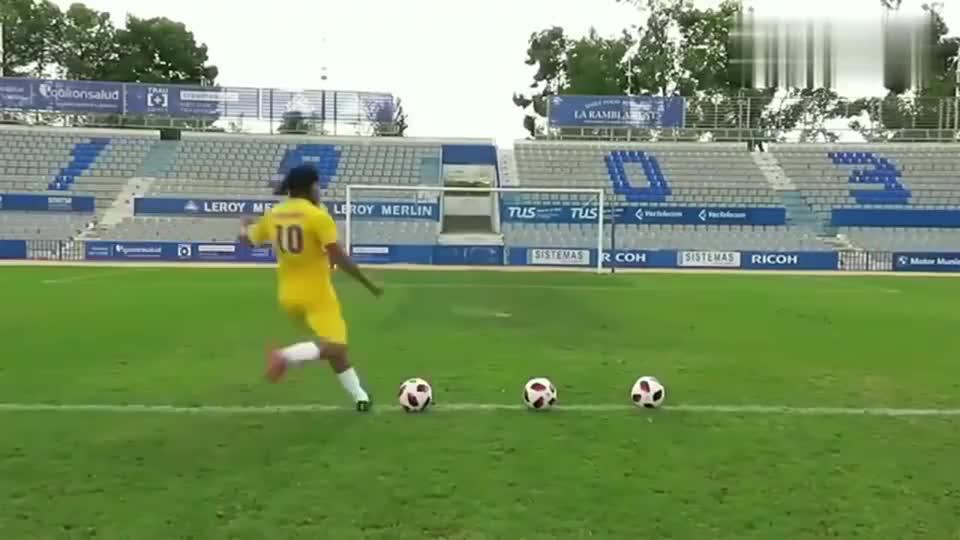 罗纳尔迪尼奥广告踢横梁是真是假,这个视频告诉你答案!