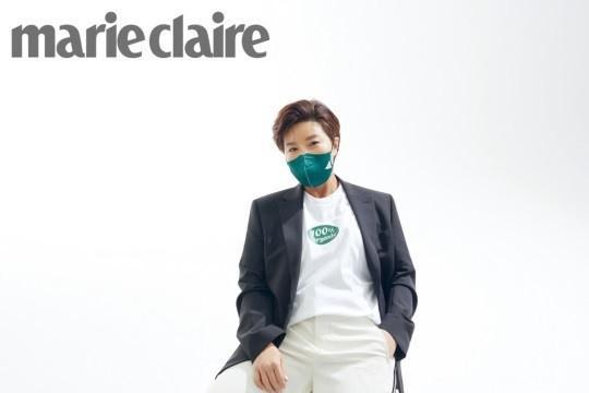 韩国女艺人朴世丽最新杂志写真戴口罩出镜