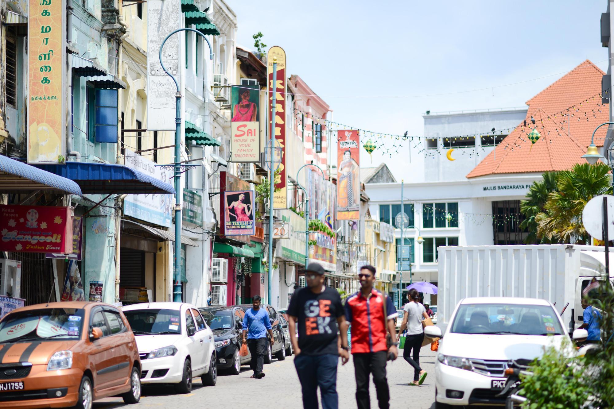 马来西亚槟城的特色小街,曾经的唐人街,现在的小印度