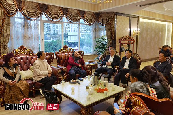 省会荣誉主席龚学林接待多彩贵州集团董事长龚蜀等一行