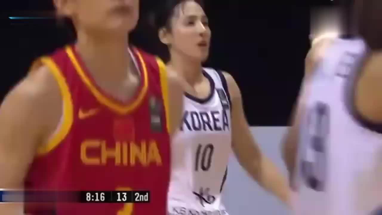 中国女篮,李缘孙梦然一里一外这攻势,韩国队真吃不消