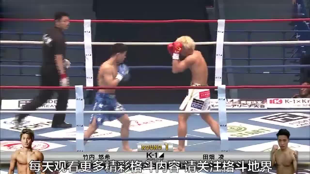 22秒KO年轻高手突袭一拳KO对手,直接打蒙了久久没爬起来!