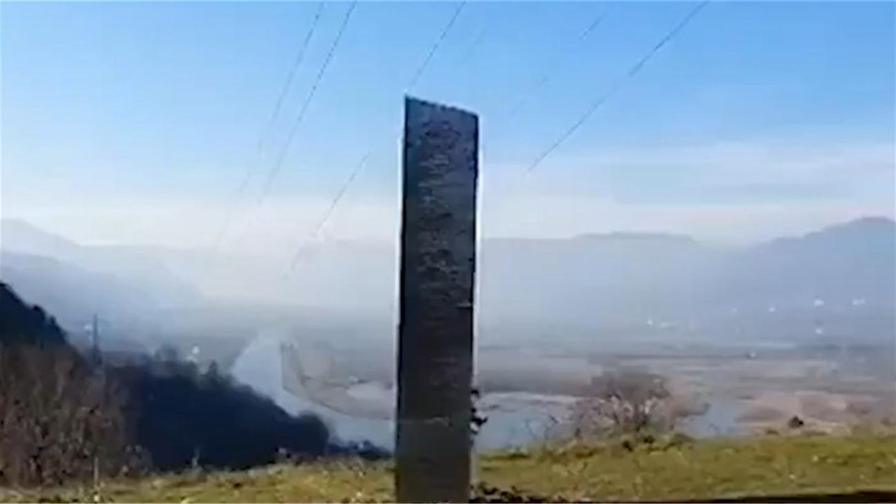 美国犹他州神秘金属体消失没几天 罗马尼亚竟发现相似金属物体