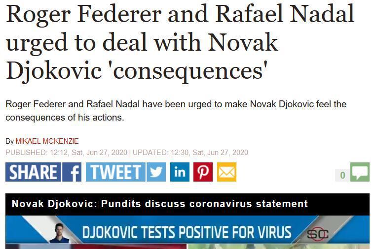 费德勒前教练敦促瑞士天王及纳达尔出面 让德约科维奇意识到后果
