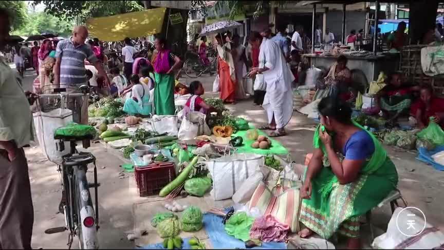 到印度,实拍印度的小镇集市,看看印度人怎么赶集?