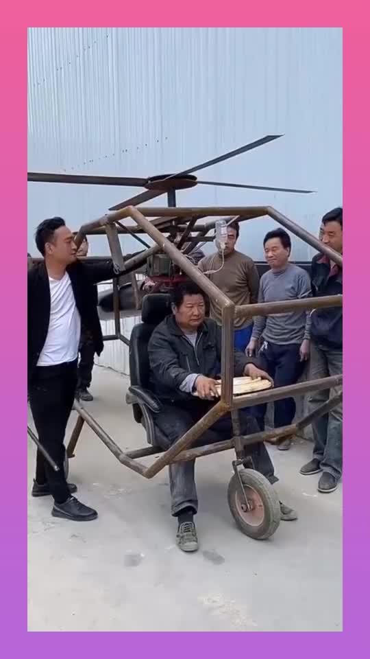 农村牛人自制飞机,就是不知道怎么降落,高手在民间!