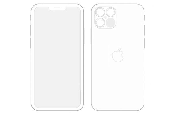 iOS 14曝光iPhone 12 Pro设计图:刘海缩小1/3、四摄