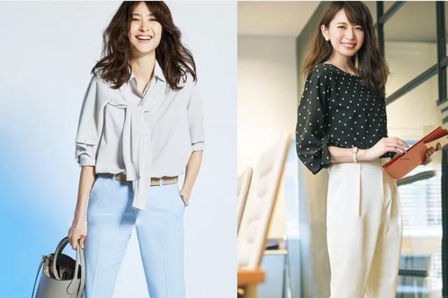 裤子的款式可不少,同样的穿搭把裤子选好,职场里显得更精致