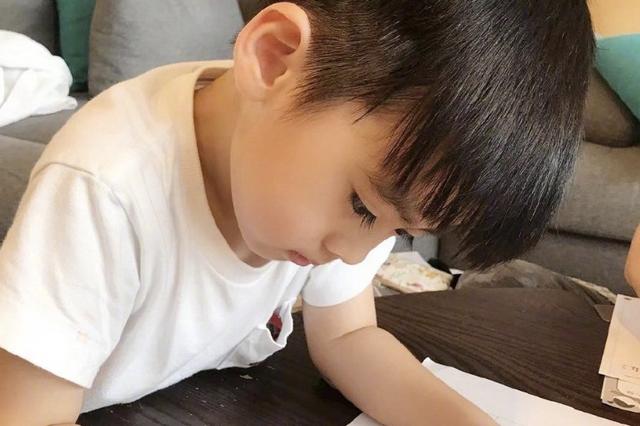 林志颖晒4岁双胞胎儿子学汉字,双子星写复杂的繁体字,字迹工整