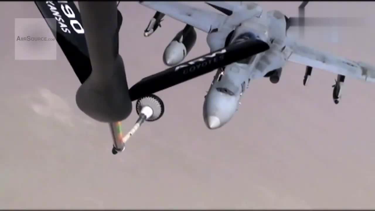 KC-135 Stratotanker F_A-18大黄蜂和EA-6B徘徊者空中加油