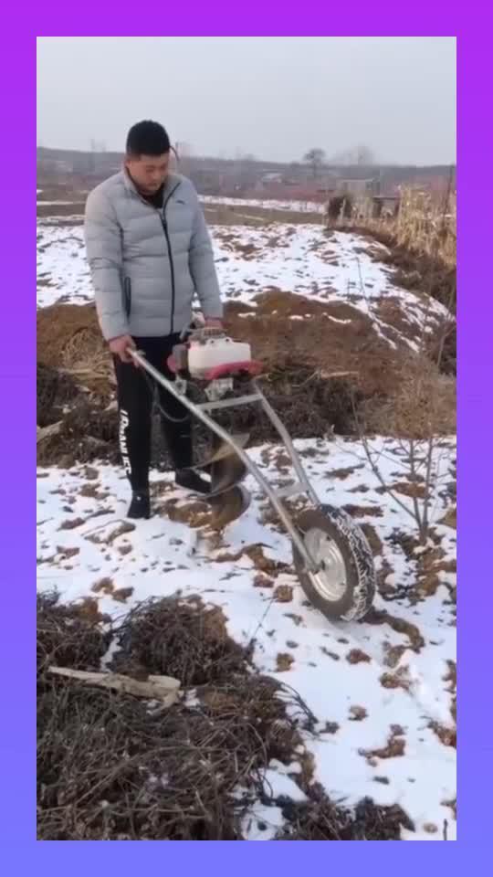 农民工挖坑神器,冻土层也实用,真是涨见识了!